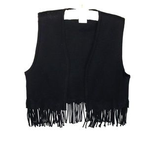 Jackets & Blazers - Maggy London fringed vest.